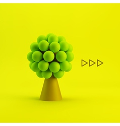 Tree concept for business social media vector