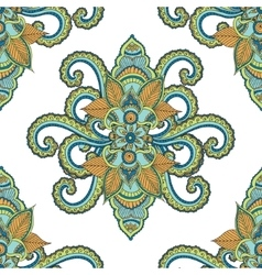 Beautiful seamless indian floral ornament can be vector