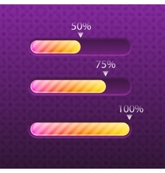 Progress bar glossy and trendy style vector