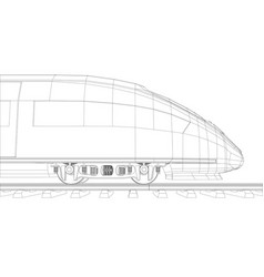 abstract polygonal high-speed passenger train vector image