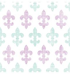 Abstract textile fleur de lis stripes seamless vector image