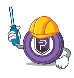 Automotive pivx coin mascot cartoon vector