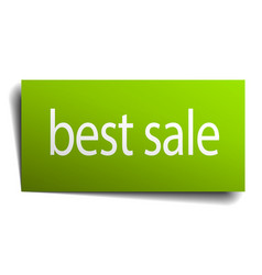 Best sale green paper sign on white background vector