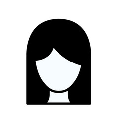 Black silhouette thick contour of front view vector