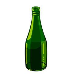 bottle of green glass vector image