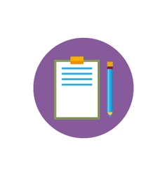 Clipboard with a pencil icon vector