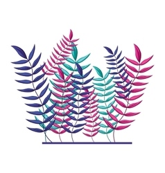 Collage of several multicolored leaves vector