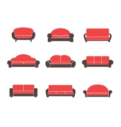 Comfortable sofas and couches vector