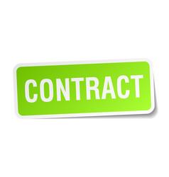 Contract square sticker on white vector