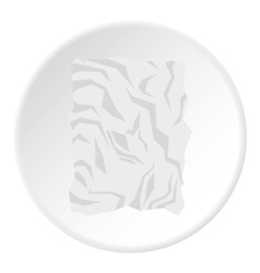 Crumpled paper icon flat style vector image