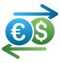 Dollar euro swap gradient icon vector