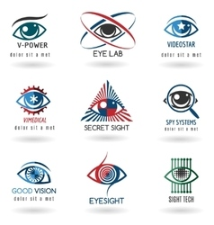 Eye logo set vector image
