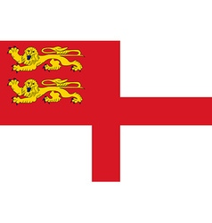 Flag of Sark vector image vector image