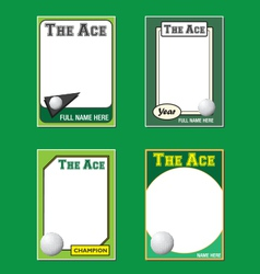 Golf Cards vector image vector image