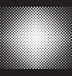 halftone background radial gradient of dots vector image vector image