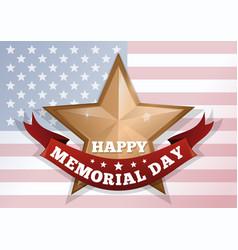 happy memorial day concept vector image vector image