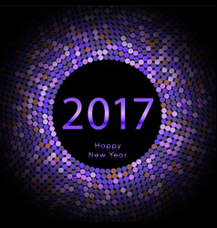 happy new year 2017 background calendar vector image