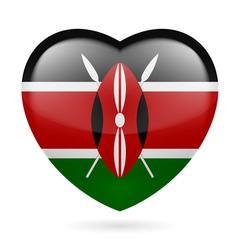 Heart icon of Kenya vector image
