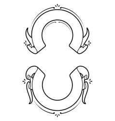 Heraldic ribbons vector