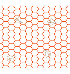 Honeycomb seamless pattern 3 vector