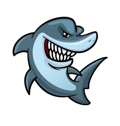 Hungry shark with toothy smile cartoon character vector image vector image