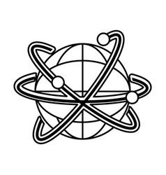Isolated global sphere design vector