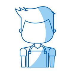 Man with apron avatar vector