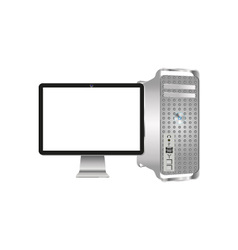 Monitor and system unit vector