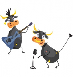 musical cows vector image