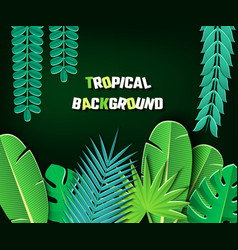 Paper cut tropical2-01 vector