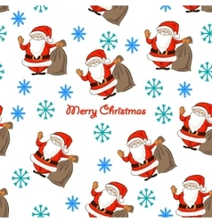 pattern with Santa vector image vector image