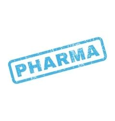 Pharma rubber stamp vector