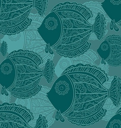 seamless pattern of a lot of beautiful decorative vector image vector image