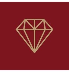 The diamond icon jewel symbol flat vector