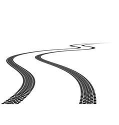 Tire track vector