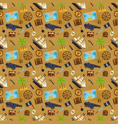 Treasure chest seamless pattern vector