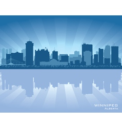 Winnipeg canada skyline vector