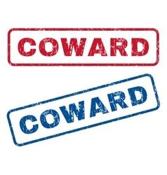 Coward rubber stamps vector