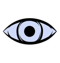 All-seeing eye icon cartoon vector