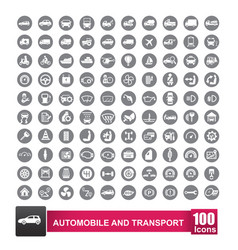 100 icons set of auto transport and logistic vector