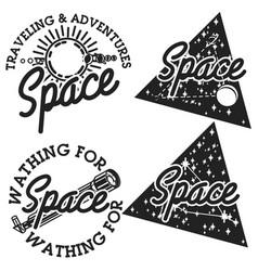 vintage space emblems vector image
