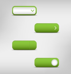 Green empty rectangular buttons vector