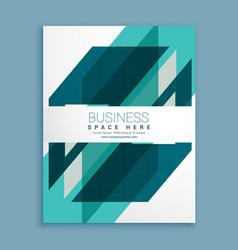Blue geometric brochure design template vector
