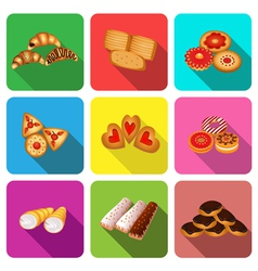 Set of icons on a theme cookie vector