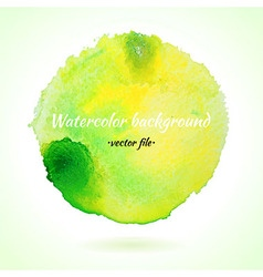 Watercolor background light green and yellow vector
