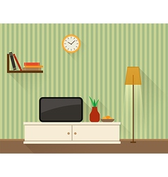 The living room with tv vector