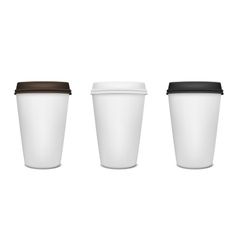 Paper coffee cup set vector