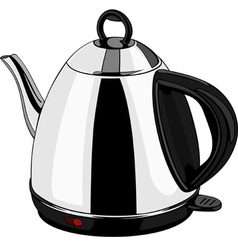 Electrical kettle color vector