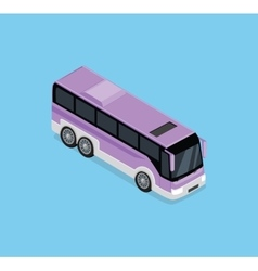 Isometric bus icon vector