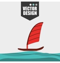 beach concept design vector image